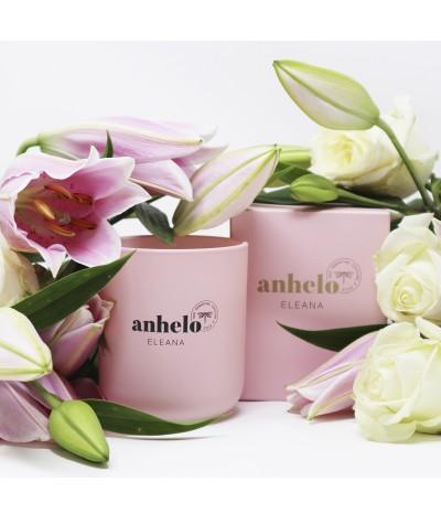 Vela aromática Anhelo Eleana con flores